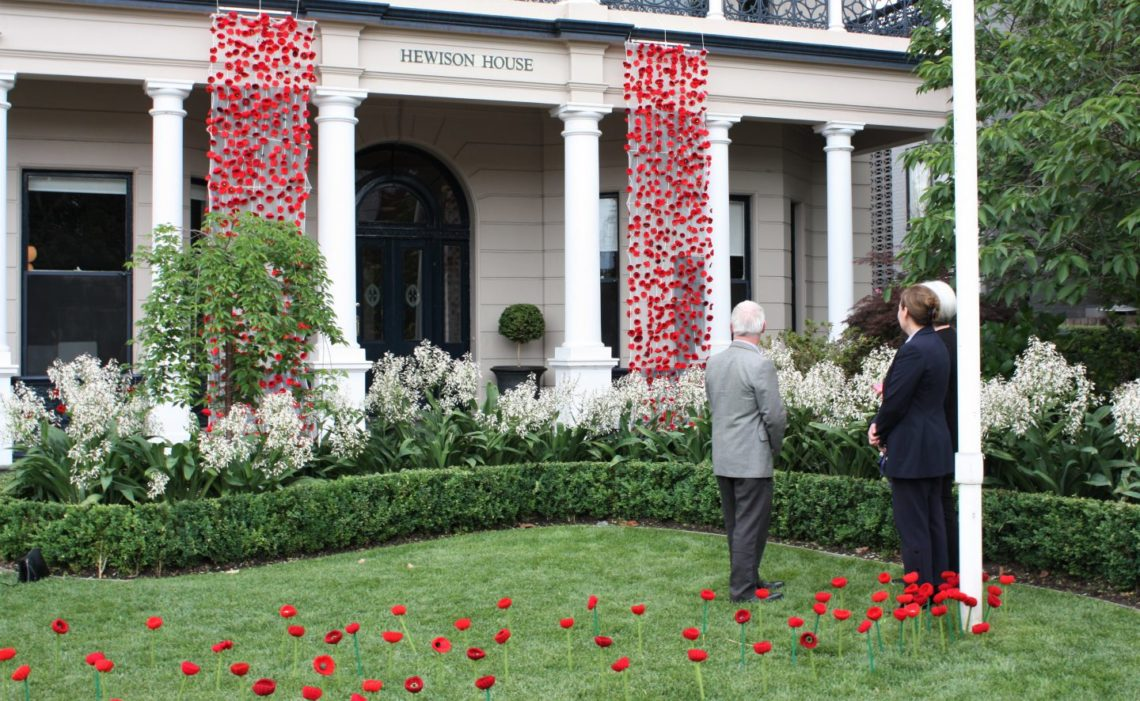 Poppies installation: a community act of remembrance